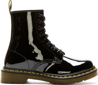 Dr. Martens Black Patent 1460 W 8-Eye Boots