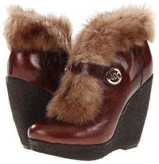 MICHAEL Michael Kors Lara Wedge (Mocha) - Footwear