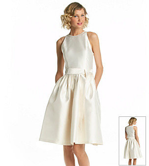 Isaac Mizrahi T-Length Full Skirt Dress