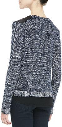 Ella Moss Faux-Leather-Trim Zip Jacket