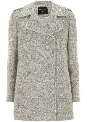 Dorothy Perkins Grey wool mix biker jacket