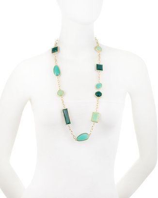 Fragments for Neiman Marcus Geometric Station Necklace, Teal