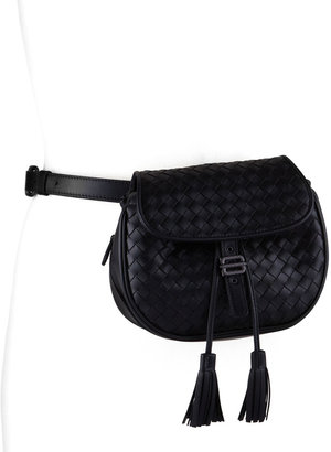 Bottega Veneta Intrecciato Small Belt Bag, Black