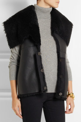 Mulberry Gracie convertible wool and cashmere-blend biker jacket