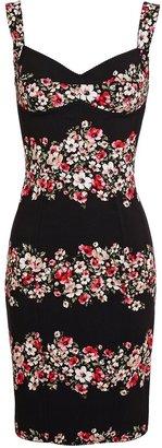 Dolce & Gabbana Floral Printed Crepe Dress