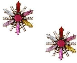 Erickson Beamon ROCKS Tropical Punch Flower Stud Earrings