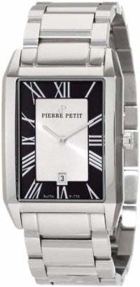 Pierre Petit Men's P-778C Serie Paris Rectangular Stainless-Steel Bracelet Date Watch