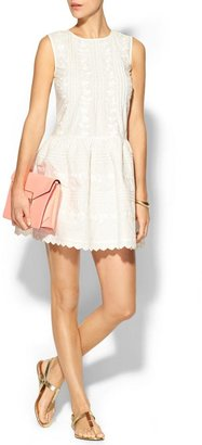 RED Valentino Sleeveless Embroidered Dress