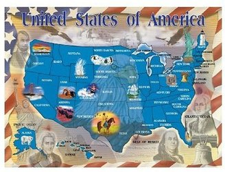 Melissa & Doug Deluxe Map of the U.S. Cardboard Jigsaw (500 Pc)
