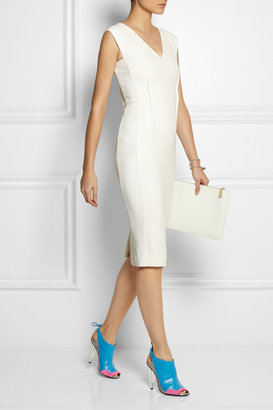 Roland Mouret Damier leather, suede and ayers slingbacks