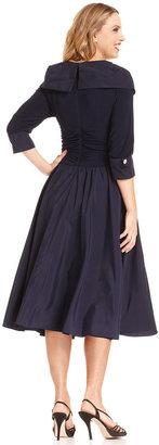 Jessica Howard Portrait-Collar A-Line Dress