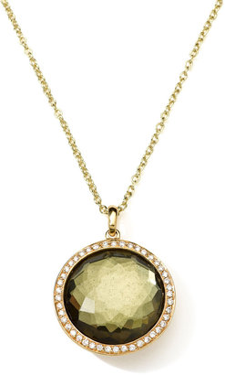 Ippolita 18K Gold Rock Candy Lollipop Necklace in Pyrite & Diamonds