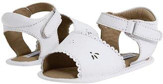 Elephantito Sandal W/ Scallop (Infant/Toddler) (White) Girl's Shoes