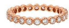 Sethi Couture Diamond Bezel Band - Designer Rose Gold