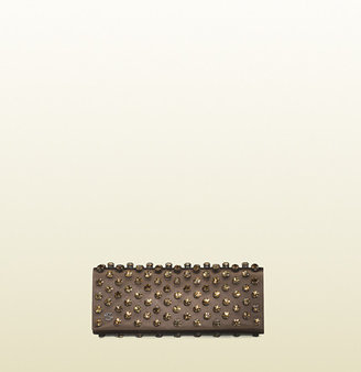 Gucci Broadway Satin Clutch With Swarovski
