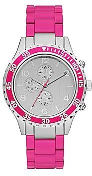 JCPenney Womens Bright Metal Bracelet Watch