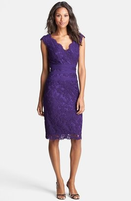 Women's Tadashi Shoji Embroidered Lace Sheath Dress $238 thestylecure.com