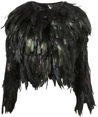 Topshop Feather Jacket