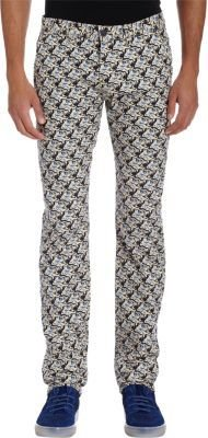 Kenzo All-Over Tiger Print Jeans