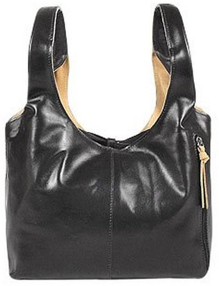 Fontanelli Black & Tan Reversible Leather Market Bag