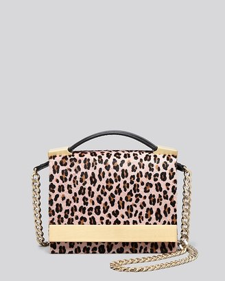 Brian Atwood Crossbody - Ava Leopard Print Haircalf Top Handle