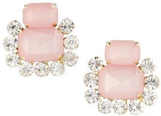 Asos Double Jewel Earrings - Pink
