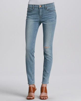 J Brand Jeans Mid-Rise Faded Slim Jeans