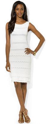 Lauren Ralph Lauren Dress Sleeveless Pointelle Sweater Dress