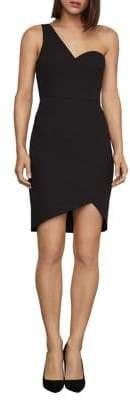 BCBGMAXAZRIA One-Shoulder Mini Sheath Dress