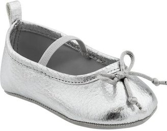 Old Navy Metallic Soft-Sole Ballet Shoes for Baby