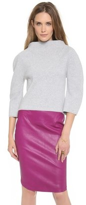 Thierry Mugler Stand Collar Pullover