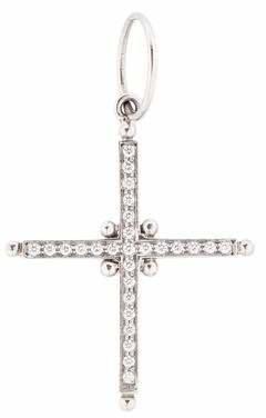 Temple St. Clair Diamond Cross Pendant