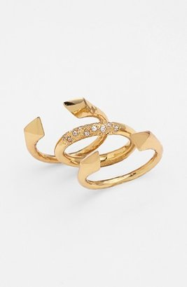 Melinda Maria 'Nailhead - Harris' Stackable Rings (Set of 3) (Nordstrom Exclusive)