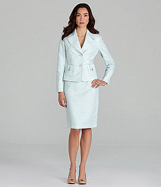 Nipon Boutique Tweed 2-Piece Skirt Suit