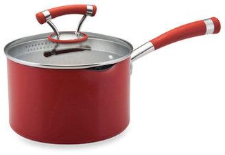 Circulon ContempoTM Red Non-Stick 3-Quart Covered Straining Saucepan