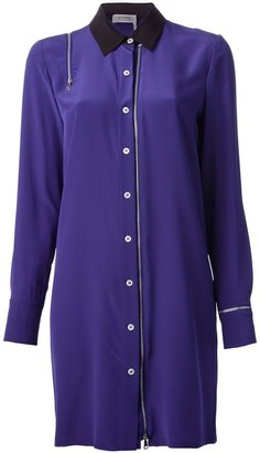 Sonia Rykiel Sonia By zip detailed shirt dress