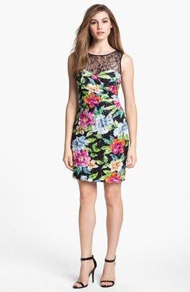 Aidan Mattox Floral Print Sheath Dress