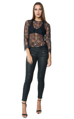Mason by Michelle Mason - Geo Lace Tee $358 thestylecure.com