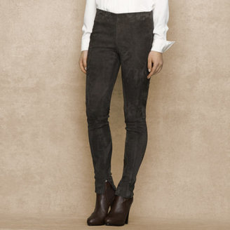 Ralph Lauren Blue Label Skinny Stretch-Suede Pant