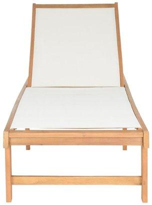 "Safavieh Outdoor Living Manteca Brown Acacia Wood Lounge Chair - 23.6"" x 75.2"" x 13"""