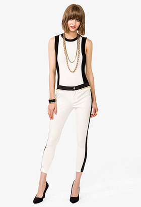 Forever 21 Colorblocked Skinny Pants