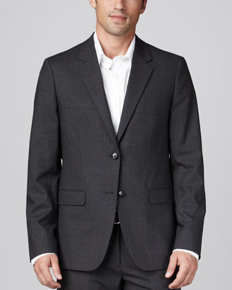 Theory Stretch-Wool Sport Coat, Charcoal