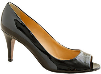 PeepToe Drea patent peep-toe pumps