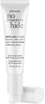 Philosophy 'No Reason To Hide' Instant Skin-Tone Perfecting Moisturizer Broad Spectrum Spf 20 Sunscreen $45 thestylecure.com