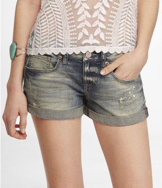 Express 2 1/2 Inch Rolled Denim Shorts