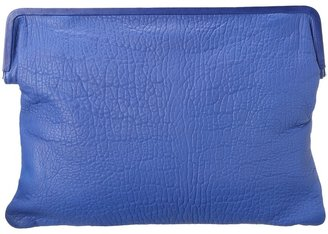 Rachel Zoe Beatrice Foldover Clutch (Merlin Blue) - Bags and Luggage