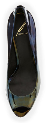 Brian Atwood B by Bambola Patent Leather Platform Pump, Black