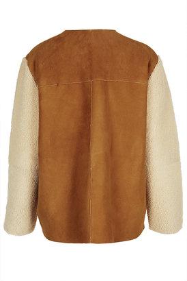 Topshop **Waterfall Sheepskin Coat