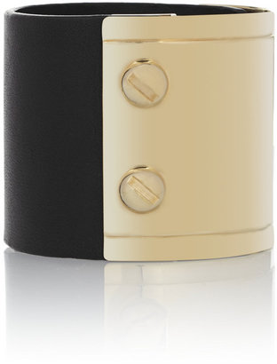 Givenchy Black leather and gold-tone cuff