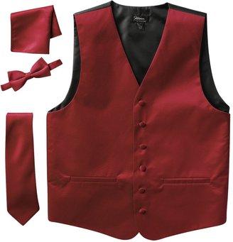 Men's Steven Land Solid 4-Piece Vest Set